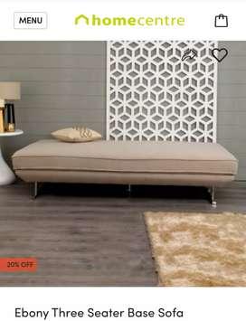 Home center three seater ebony sofa base
