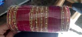 Chudi set in pink colour