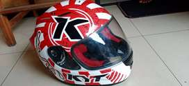 Helm rc7 merah putih motif china size L