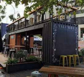 BOOTH DAGANG CONTAINER KEKINIAN FOOD TRUCK CABIN COTTAGE