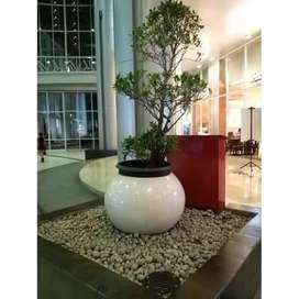 Pot Terazo Bola Diameter 60cm Project Mall Kuningan
