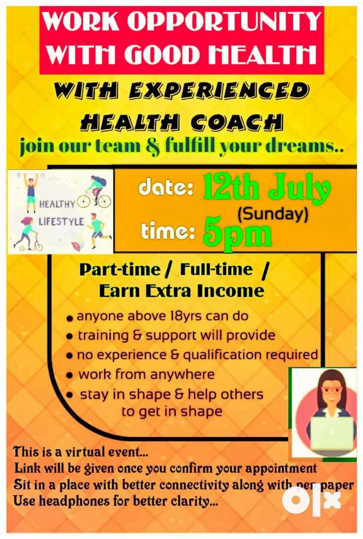 Work opportunity with good health. Join our team &fulfill Your dream. 0