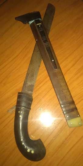 pisau badik tua murah