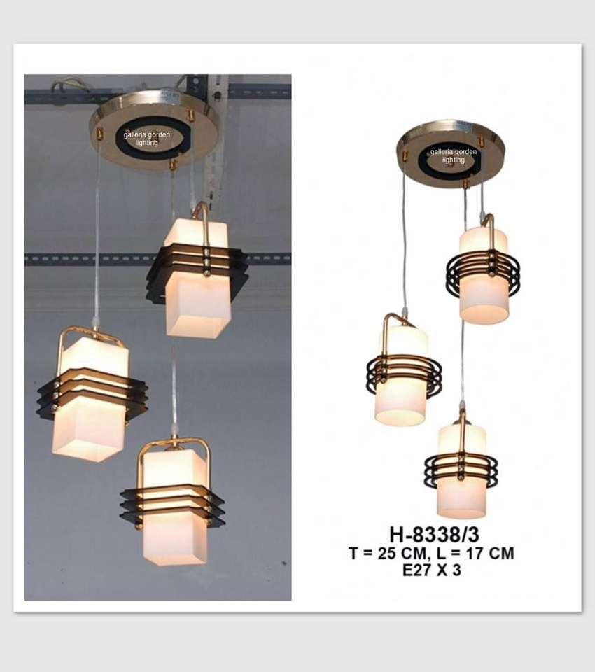 Lampu hias gantung minimalis dekorasi meja makan 8335/3 ID35 0
