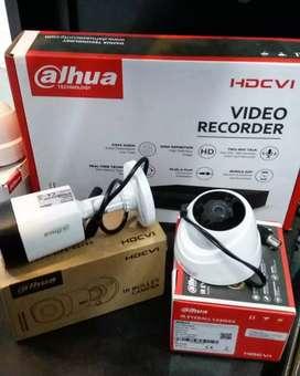 Paket 2 camera cctv Dahua 2 Mp include pemasangan.