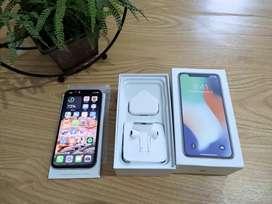 IPhone X white 64gb , Lengkap & Muluss like