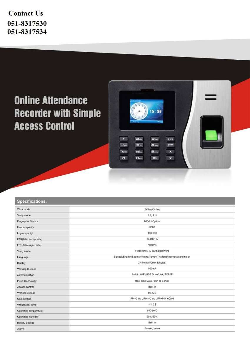 Biometric Time Attendance System With Payroll Integrated Software 0