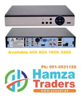 4 Channel DVR 5 in 1  For cctv Cameras Available 4C 8H 16CH 32 CH