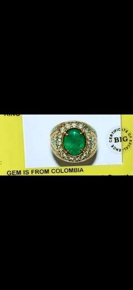 cincin zamrud colombia ring emas berlian