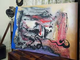 canvas painting size 4f×4f