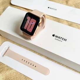 Apple watch Series 3 38 MM Sport band Gold fullset Original