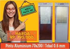 Jual Pintu Aluminium New PVC Galvalum Murah kamar mandi Toilet WC