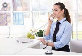 Looking for a female receptionist,