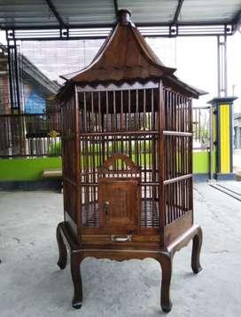 kurungan burung beo asli jati