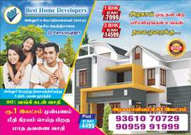 1 bhk just 10 lac only near annur bustand