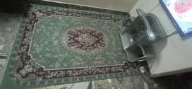 Green color irani design carpet for sale(6.5*9.5)