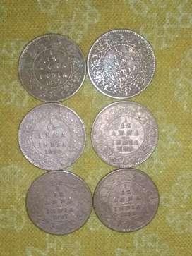 Victoria coins 1/12 anna