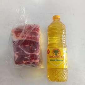 Paket daging + minyak goreng