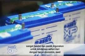 Massiv xp battery aki mobil basah 35 ah untuk suzuki aerio matic