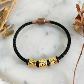 Gelang Hongkong Bangle Jewellery Hadiah Pacar Korea Gold Emas asli
