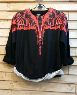 Sweater MB Wings Black Red Import