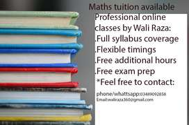 Maths tuition (Primary/Secondary level)
