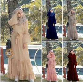 Dress full brocade murah