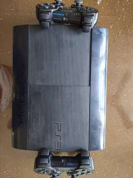 Playstation 3 super slim model with 2 witeless controller