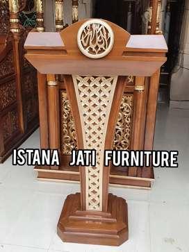 mimbar masjid material mimbar jati masjid F6144
