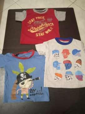 Sale 3 pcs kaos anak laki laki 2 tahun murah