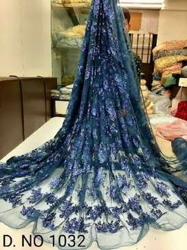 embroidary fancy net for dress at wholesale price