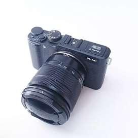 Fujifilm xm1 plus lensa kit komplit