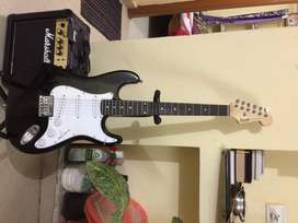 Brand New Electric  Guitar(Fender Squier) with amp (marshal) for sale