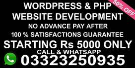 Professional Dynamic & Static & PHP Wordpress, Website Leading website