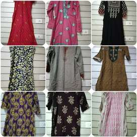 Women used Kurtis and salwar suits