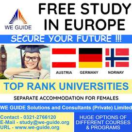 FREE STUDY IN EUROPE for Pakistani Students