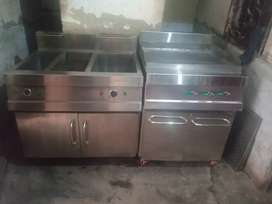 Deep frayer 3basket with sizler hot plate 20*30