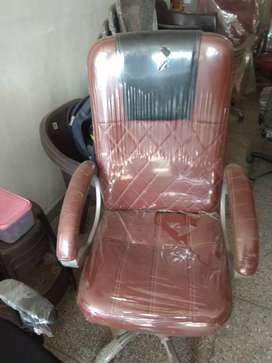 Brown color office chair. Strong and durable office chair.