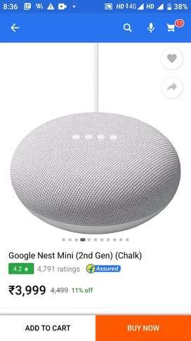 new Google Nest mini( 2 gen) , on the way by flipkart