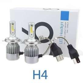 Lampu Led Utama C6 H11 H8 H9 COB 2 pcs Headlamp
