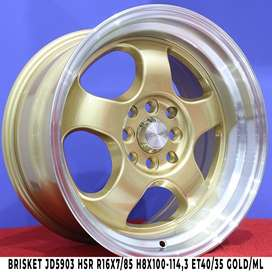 Velg BRISKET JD5903 HSR R16X7/85 H8X100-114,3 ET40/35 GOLD/ML