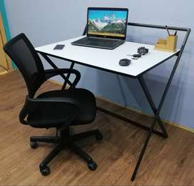 PRACTICAL COMPUTER STUDY HOME OFFICE TABLE White Brown Black Lahore