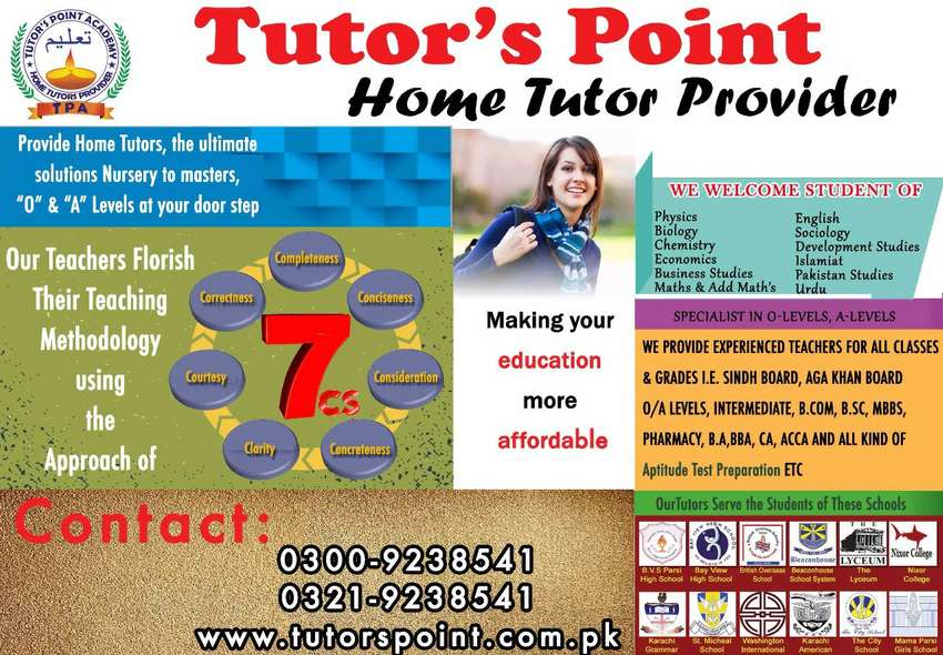 HOME TUTORS AT YOUR RESIDENCE 0