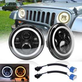 Jeep 7 Inch Universal light A Qulaity round Drl