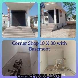 Corner shop with basement