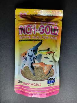 Inch gold fish food