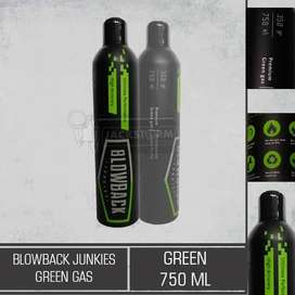 Green Gas Blowback Junkies  (Green) 750ml
