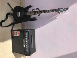 Ibanez GIO grg170dxl electric guitar with Line 6 spider iv 30 Amp
