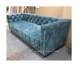 Lomo Sofa Bludru Chesterfield Modern