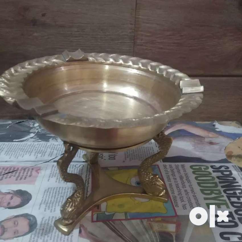 Antique Pure Brass  big size Ashtray 0